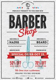 barber flyer barber shop vintage flyer poster by moodboy graphicriver