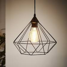tarbes black cage pendant light