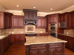 creative design cherry wood cabinets kitchen give unique look to your with ideas