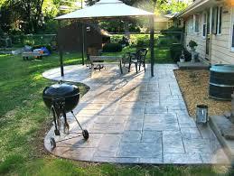 patio shape ideas home design concrete shapes l shaped backyard