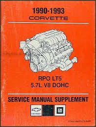 1990 1993 corvette zr 1 lt5 engine service overhaul repair shop 1990 1993 corvette zr 1 lt5 engine service overhaul repair shop manual supp