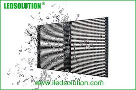 high brightness waterproof outdoor led curtain display for fixed installation