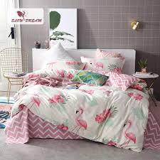 pink flamingos bedding set 3d double bed sheet comforter duvet cover bedspread bedclothes queen king size linens47 red duvet covers gingham bedding