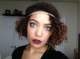 1920 Hair Style flapperinspired hairstyle on naturally curly hair youtube 5542 by wearticles.com