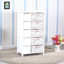 luxury wooden furniture storage. Luxury Wicker Dresser Bedroom Storage Chest 5 Drawers W Baskets Cabinet Wood Furniture 3 Piece Set Wooden