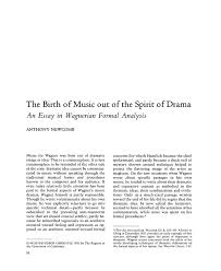 the birth of music out of the spirit of drama an essay in  pdf extract preview