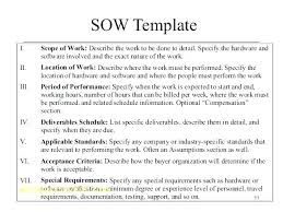 It Sow Template Statement Of Work Sow Template Standard Powerbots Co