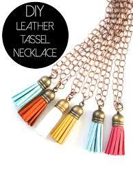 diy leather tassel necklaces