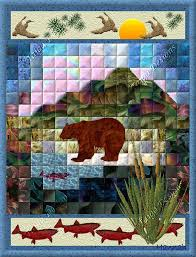 44 best MEN's Quilts images on Pinterest | Animal quilts, Flower ... & Folk Art Quilt Design Bear 8 by 10 inches by Taiga91 on Etsy, $6.00 Adamdwight.com