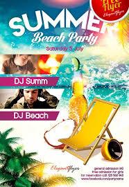 Beach Flyer Free Summer Beach Party Psd Flyer Template