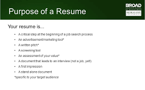 MBA Career Services Center Resume Tutorial Ppt Video Online Download Magnificent Purpose Of A Resume