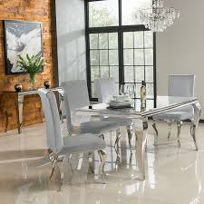 louis dining room chairs gray velvet transitional pertaining to silver remodel 19