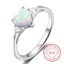 Promise Ring Quotes New 48 Sterling Silver Women's Heart Cut Opal Stone Promise Ring