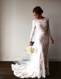 25 modest wedding dresses with long sleeves lds daily