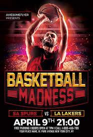 basketball madness flyer template net basketball madness flyer template