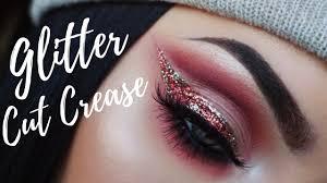 huda beauty rose gold palette cut crease tutorial