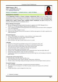 5 Curriculum Vitae Format Crescent Financial Partners