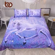 BeddingOutlet Purple Unicorn Bedding Set 3D Printed Quilt Cover ... & BeddingOutlet Purple Unicorn Bedding Set 3D Printed Quilt Cover With  Pillowcases Floral Scenic Bed Set 3 Piece Home Textiles-in Bedding Sets  from Home ... Adamdwight.com