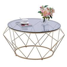 living room tempered glass round coffee