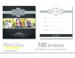 Photography Gift Certificate Template Personalized T Certificate