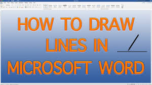 Now you can do uniform texture scaling for the lines, which makes it easy to do things like dotted or dashed lines: How To Draw Lines In Microsoft Word Draw Lines In Word Quick And Easy 2019 Youtube