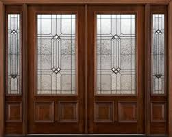 Double front door with sidelights American Double N200 Exterior Double Doors N75 Sidelights Builder Glass Patina Came Nicks Building Supply Exterior Double Doors With Sidelights Solid Mahogany Doors