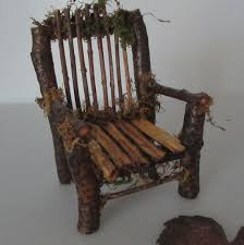 fairy chair handmade from twigs one of a kind art miniature for dolls or garden