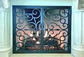 fireplace screen repair parts glass door replacement gas outdoor