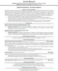 Sample Resume For Process Engineer Chemical Engineer Resume Chemical Engineering Resume Sample Pdf Best