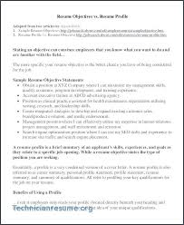 Career Objective Examples For Resume Resume Sample