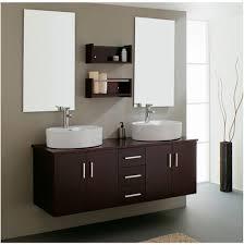 modern bathroom double sinks. White Modern Bathroom Vanities Double Sink With Minimalist Dark Brown Wooden Wall Mounted Storage Sinks