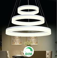 round chandelier light modern round ring circular dimming led chandelier light hanging lamp dimming light pendant