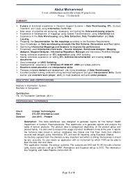 Abdul ETL Resume. Page 1 of 4 Abdul Mohammed E-mail:  abdulmohammed.etldeveloper@gmail.