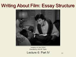 lecture the drama of race passing ppt  writing about film essay structure