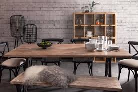 Industrial Dining Table With Bench Rustic Stainless Steel Glass Top Tables  Designs Set Affordable