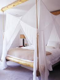 Amusing Design Canopy Bed Drapes Ideas In White Color Curtain Drapery Brown  Wooden Frames For Classic