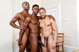 Black gay threesome free video