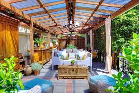 ... Open sunroom design is perfect for those who love outdoor living  [Design: Living Interiors