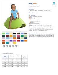 Rabbit Skins 4400 Size Chart Rabbit Skins 4400 Infant Lap Shoulder Creeper