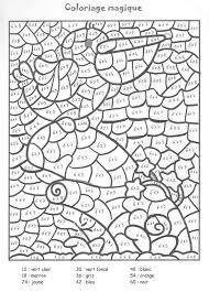 Coloriage Magique Colorier Dessin Imprimer Matematik