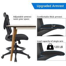 office drafting chair. Devoko Office Chair Black Back Tall Drafting - Furniwell Office Drafting Chair N
