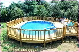 Above Ground Swimming Pool Deck Designs Cool Decorating Design