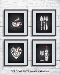 red and black kitchen wall art