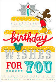 Mickey Mouse Birthday Cards Jellybook
