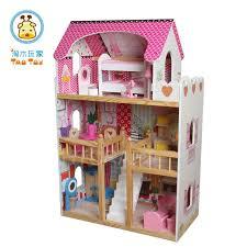wooden barbie doll house furniture. (TD016) Unique Wooden Barbie Dolls House With Solid Wood Barrier And 17PCS Furniture Inside Doll