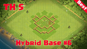 Town Hall 4 Base Design Clash Of Clans Town Hall 5 Best Defense Coc Th5 Hybrid
