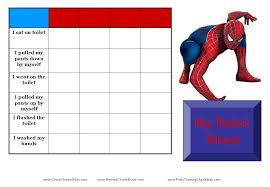 Avengers Potty Chart Spiderman Toilet Training Chart Potty Training Boys Potty