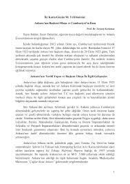 İki Kutlu Günün 90. Yıl Dönümü: Ankara'nın Başkent Oluşu ve Cumhuriyet'in  İlanı Sayın Rektör, Sayın Dekanlar