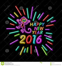 vector illustration of 2016 new year outline neon light background vector illustration of 2016 new year outline neon light background for design website banner