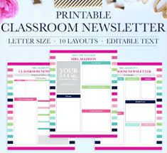 Classroom Newsletter School Newsletter Template Classroom Printables